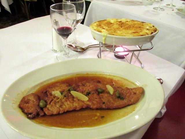 שניצל ומקרוני, גירסת המטבח הצרפתי העילי